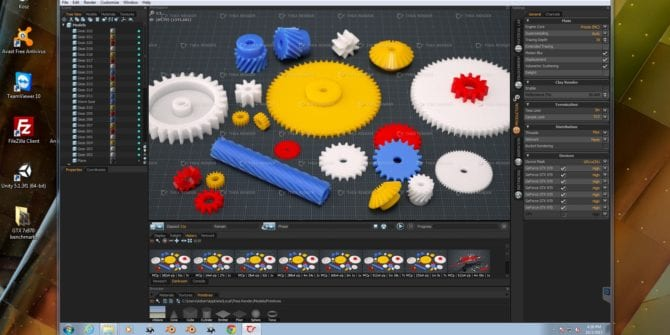Thea render + Presto engine 7x GTX 970 benchmark