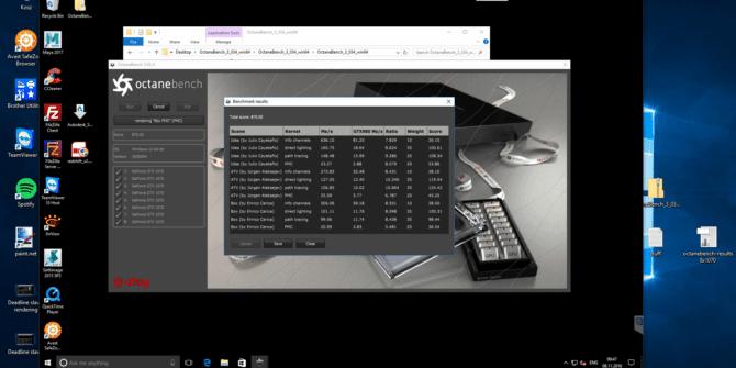 Octane benchmark 8x GTX 1070